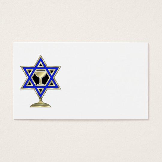 Jewish Star Business Card