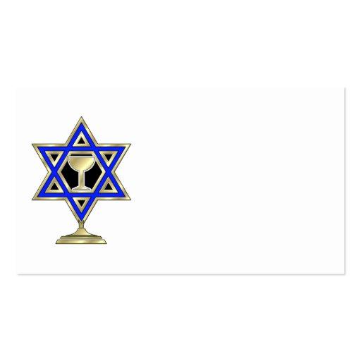 Jewish Star Business Card Template