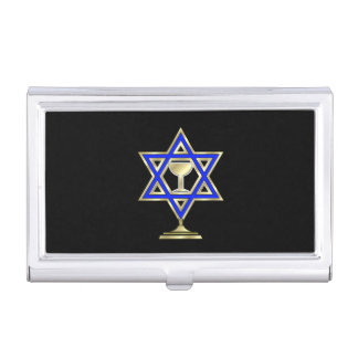 Jewish Star Case For Business Cards