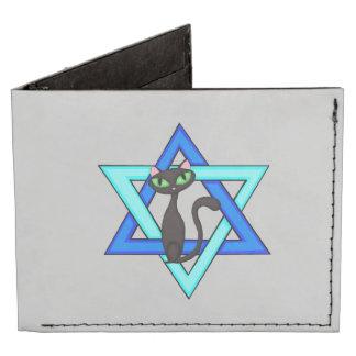 Jewish Star Cats Billfold Wallet