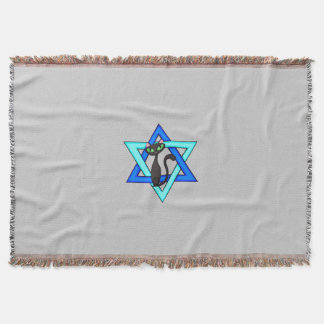 Jewish Star Cats Throw Blanket