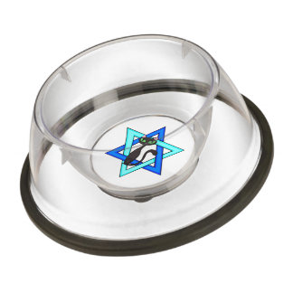 Jewish Star Cats Pet Bowl