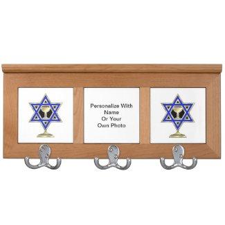 Jewish Star Coat Rack
