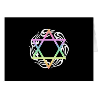 Jewish Star Colors Stationery Note Card