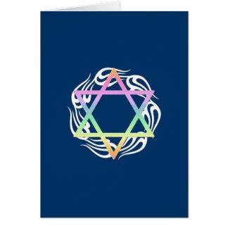 Jewish Star Colors Card