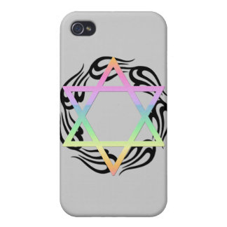 Jewish Star Colors iPhone 4 Cases