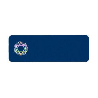 Jewish Star Colors Return Address Label