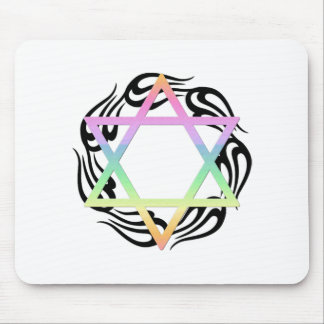 Jewish Star Colors Mouse Pad