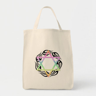 Jewish Star Colors Tote Bag