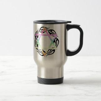 Jewish Star Colors Travel Mug