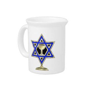 Jewish Star Drink Pitcher