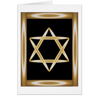 Jewish Star Eclipse Card