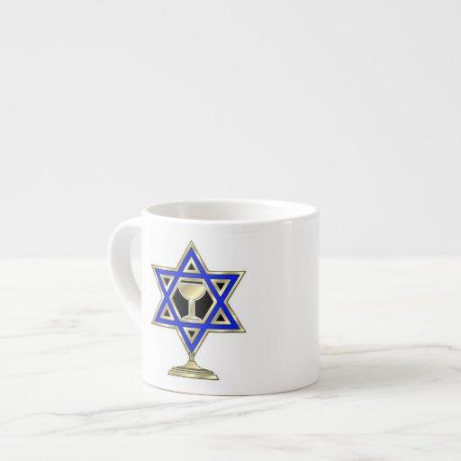 Jewish Star Espresso Cup