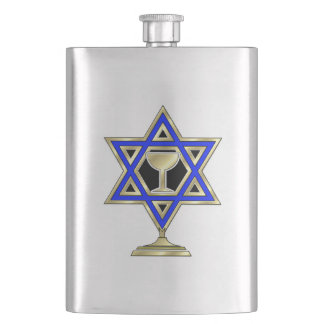 Jewish Star Hip Flask