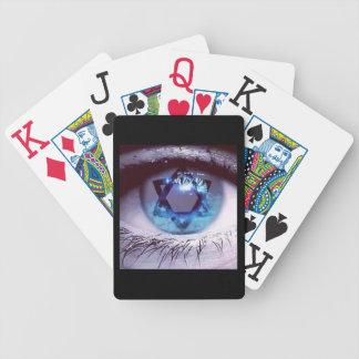 JEWISH STAR LARGE PRINT CARD GAMES BEAUTIFUL