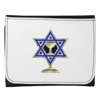 Jewish Star Leather Tri-fold Wallet