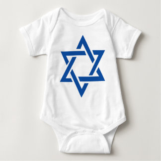 Jewish Star of David Blue Baby Bodysuit