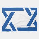 Jewish Star of David Blue Hand Towel