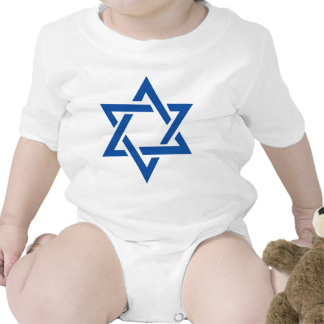 Jewish Star of David Blue T Shirt