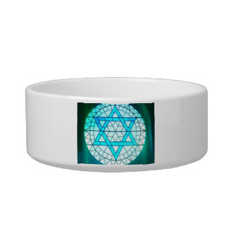 Jewish Star of David Bowl Cat Food Bowls