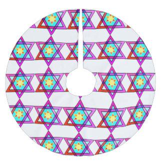 Jewish Star Of David Brushed Polyester Tree Skirt