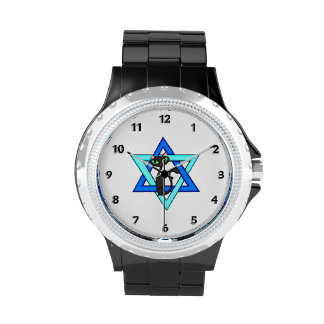 Jewish Star of David Cats Watches