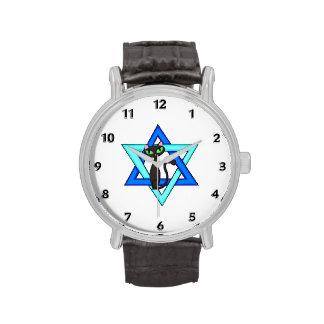 Jewish Star of David Cats Wristwatches