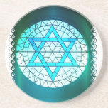 "Jewish Star of David Coaster<br><div class=""desc"">Jewish Star of David coaster.</div>"