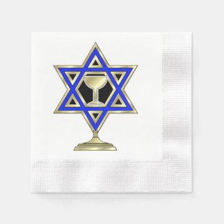 Jewish Star Of David Coined Cocktail Napkin