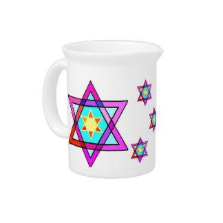Jewish Star Of David Drink Pitchers