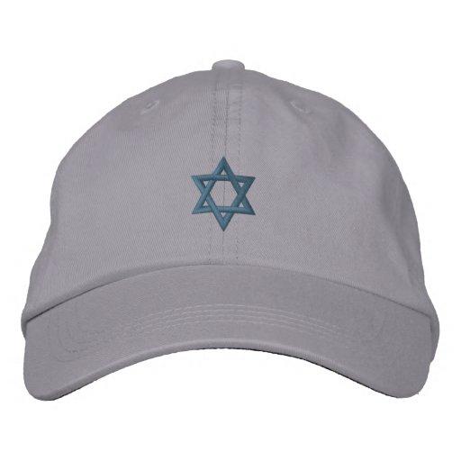 Jewish Star of David Embroidered Baseball Cap