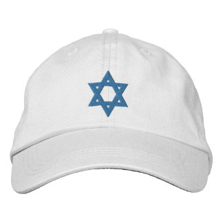 Jewish Star Of David Embroidered Hat