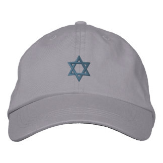 Jewish Star of David Embroidered Hat
