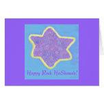 Jewish Star of David , Happy Rosh HaShonah Card