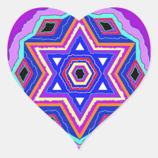 Jewish Star of David Heart Sticker