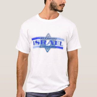 Jewish Star Of David Israel Blue and White T-Shirt