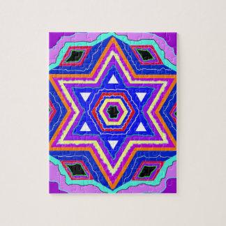 Jewish Star of David Jigsaw Puzzle