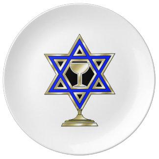 Jewish Star Of David Porcelain Plates