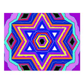 Jewish Star of David Postcard