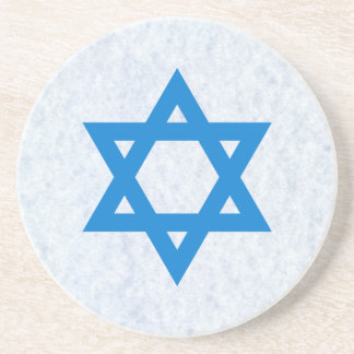 Jewish Star of David Sandstone Coaster