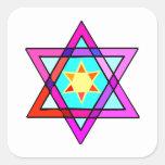 Jewish Star Of David Square Sticker