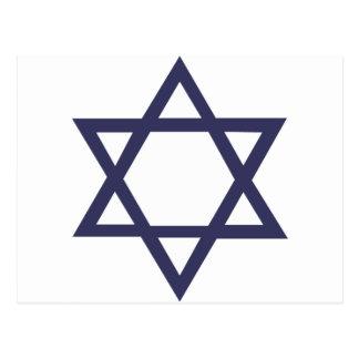 Jewish Star of David Symbol Postcard