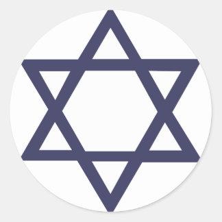 Jewish Star of David Symbol Round Stickers