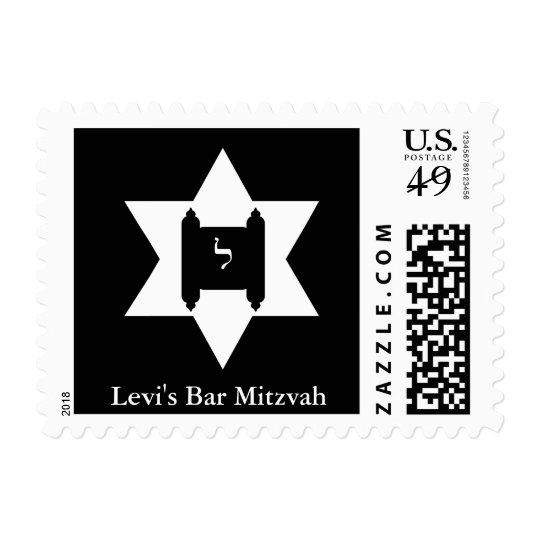 Jewish Star of David Torah Bar Mitzvah Postage