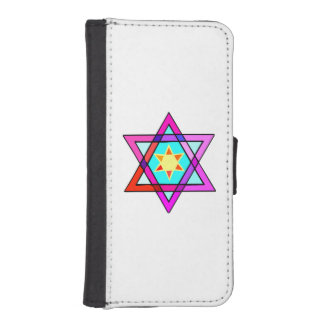 Jewish Star Of David Wallet Phone Case For iPhone SE/5/5s