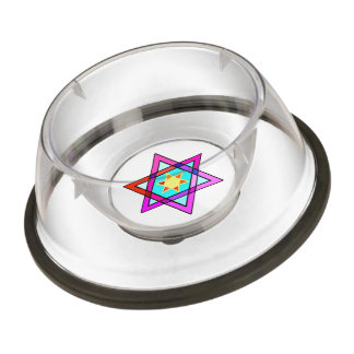 Jewish Star Of David Pet Bowl