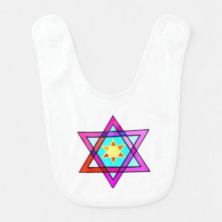 Jewish Star Of David Bibs