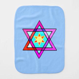 Jewish Star Of David Burp Cloths