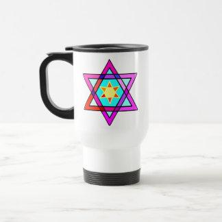 Jewish Star of Life 15 Oz Stainless Steel Travel Mug