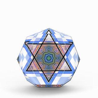 Jewish Star on moire. Acrylic Award